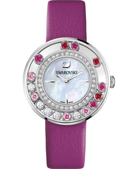 SWAROVSKI  BACK Lovely Crystals Magenta Watch 35MM