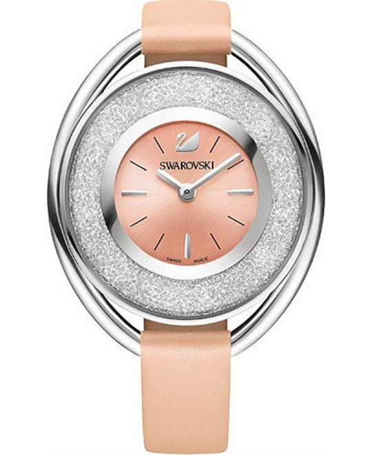 Swarovski Crystalline Oval Light Rose Ladies Watch 37mm