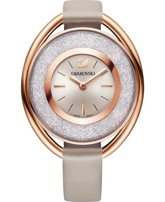 Swarovski Crystalline Oval Rose Gold Watch 37mm