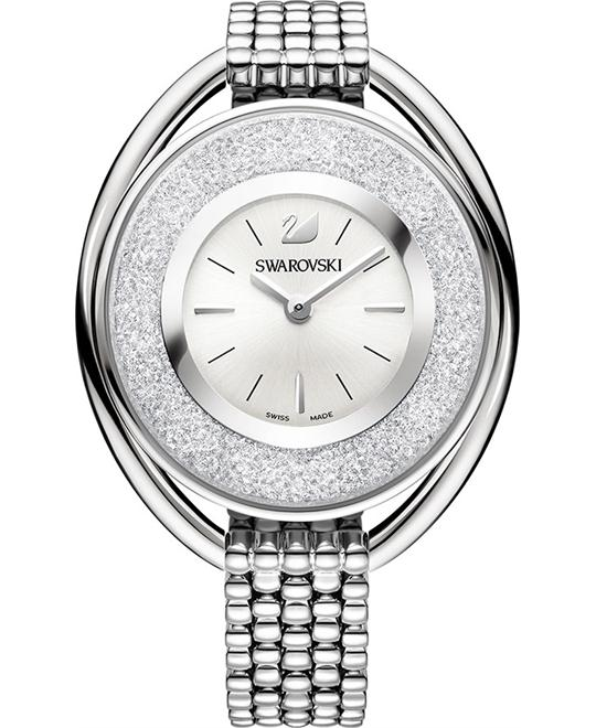 Swarovski Crystalline Oval White Bracelet Watch 37×43mm