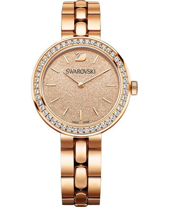 SWAROVSKI Daytime Peach Rose Ladies Watch 34mm