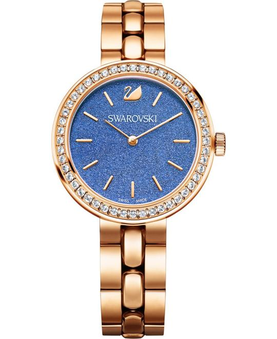 SWAROVSKI Daytime Royal Blue Rose Gold-Tone Ladies Watch 34mm