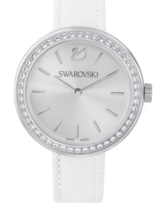 SWAROVSKI daytime white quartz white strap Watch 34mm