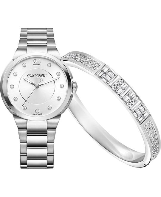 Swarovski Ethic Bangle & City Ladies Watch 38mm