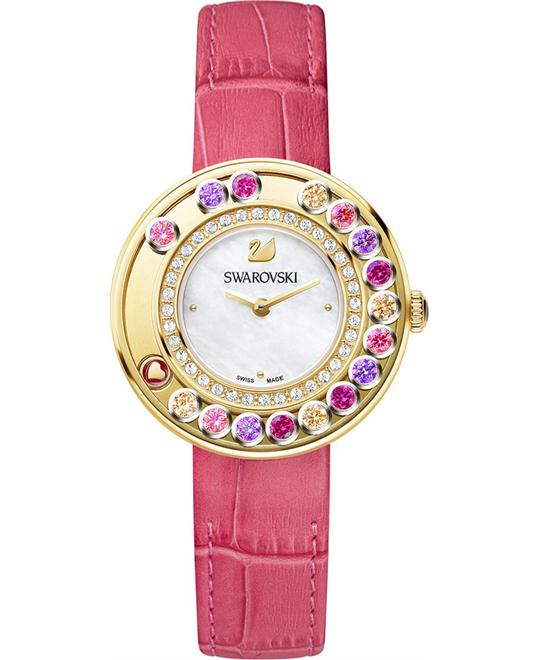 SWAROVSKI LOVELY CRYSTALS BERRY PINL WATCH 35MM