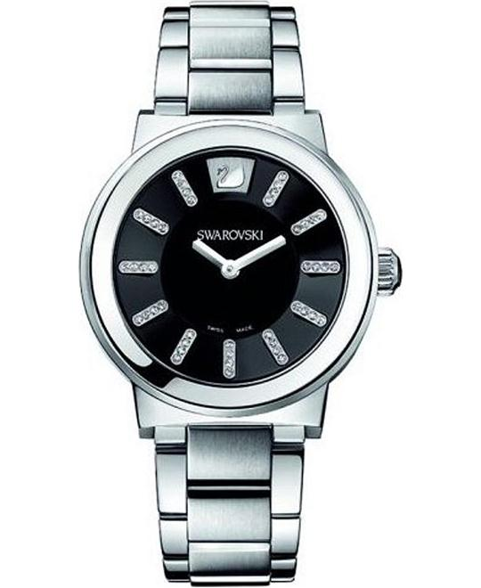 Swarovski Piazza Black Metal Watch 36mm