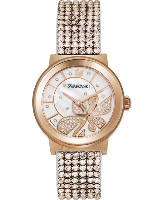 Swarovski Piazza Lady Mesh Rose Gold-Tone Watch 36mm