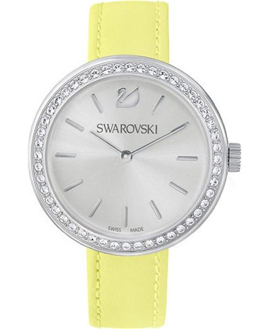 Swarovski Daytime Leather Strap Women's Watch 34mm