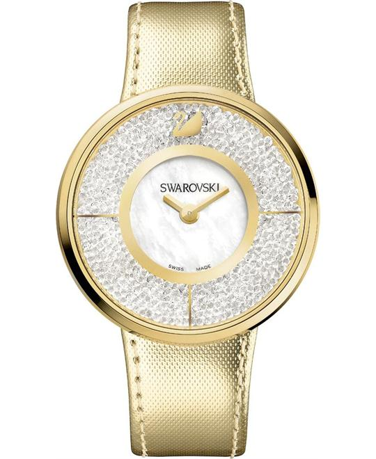 Swarovski Swiss Quartz Crystalline Gold Watch 40mm