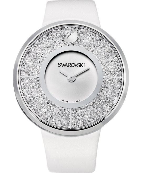 Swarovski Watch Women's Swiss White Leather 40mm