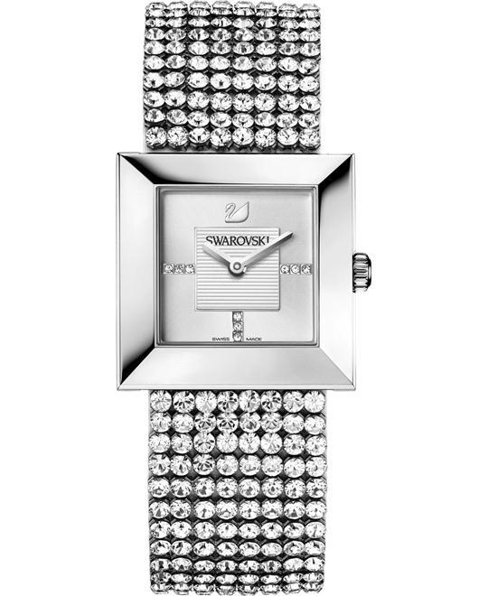 Swarovski Women's Elis Silver Leather Swiss Quartz Watch 23mm