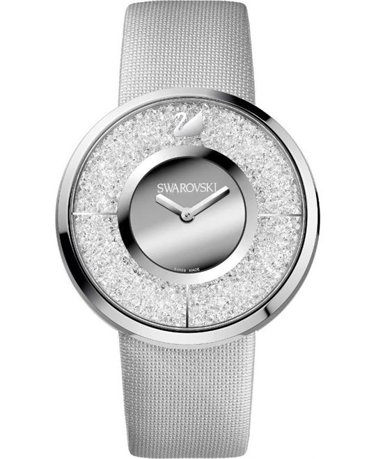 Swarovski Women's Swiss Crystalline Silver Fabric 40mm