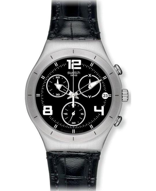 Swatch Black Casual Mens Watch 40mm