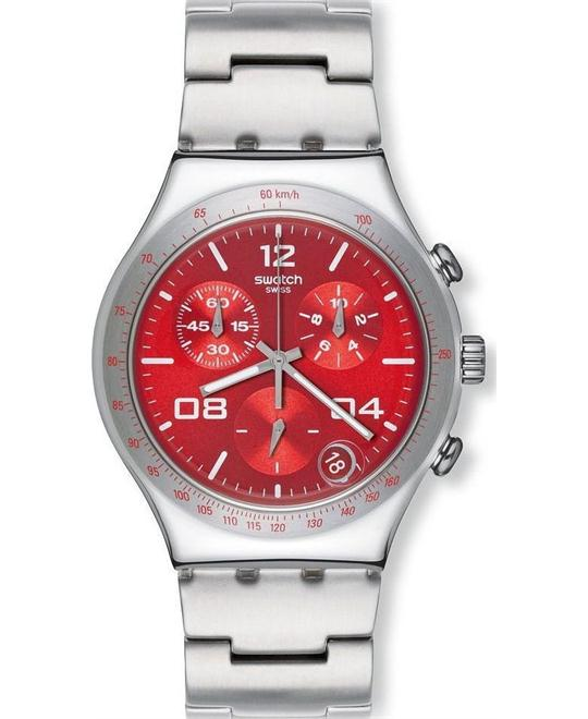 Swatch Blustery Red Ladies Watch 40mm