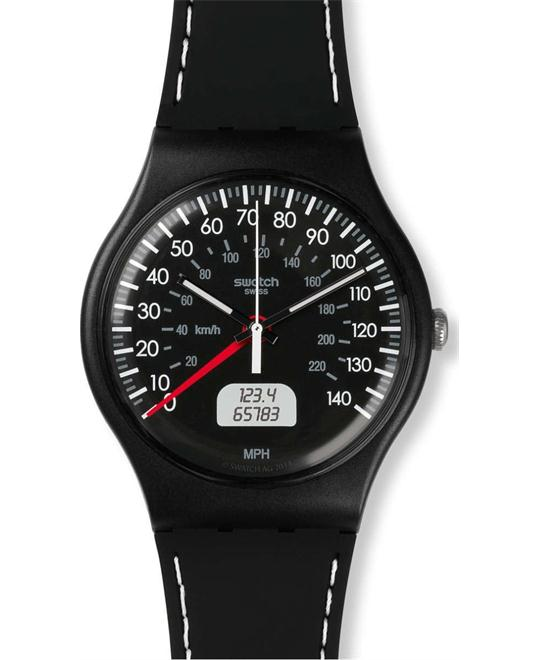 Swatch Brake Black Silicone Strap Watch 41mm
