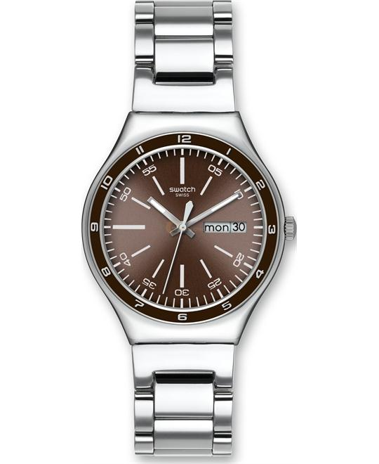 Swatch Brown Decency Mens Watch 38mm