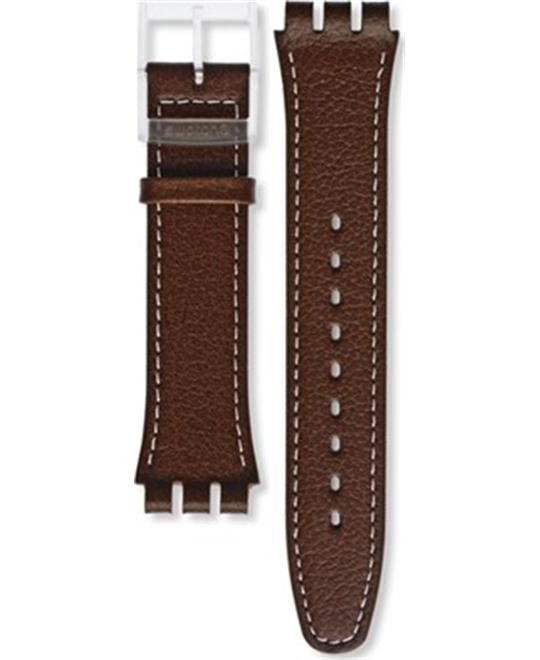 Swatch Daily Friend Brown Leather Strap 19.7mm