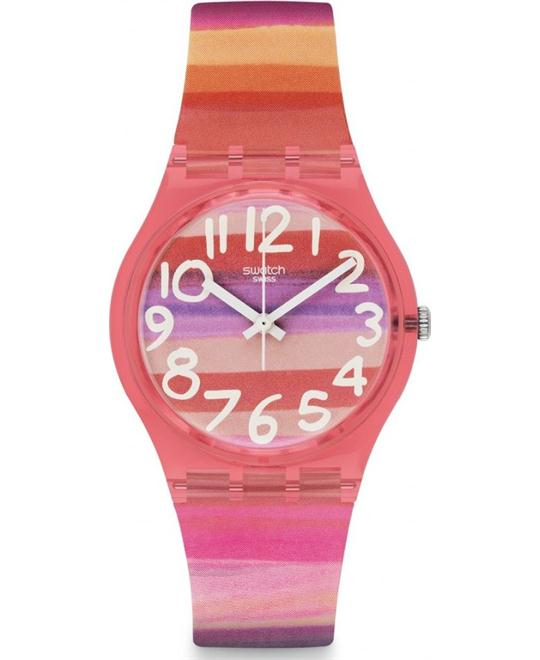 Swatch  Dial Plastic Quartz Ladies Watch 33mm