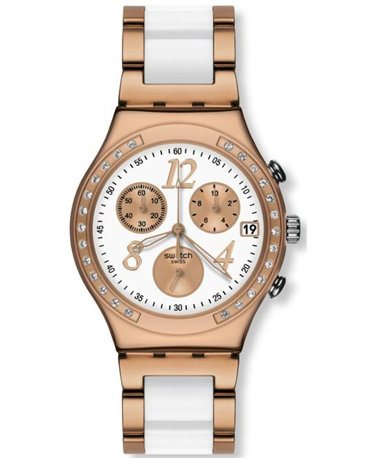 Swatch dream white rose chronograph white 40mm