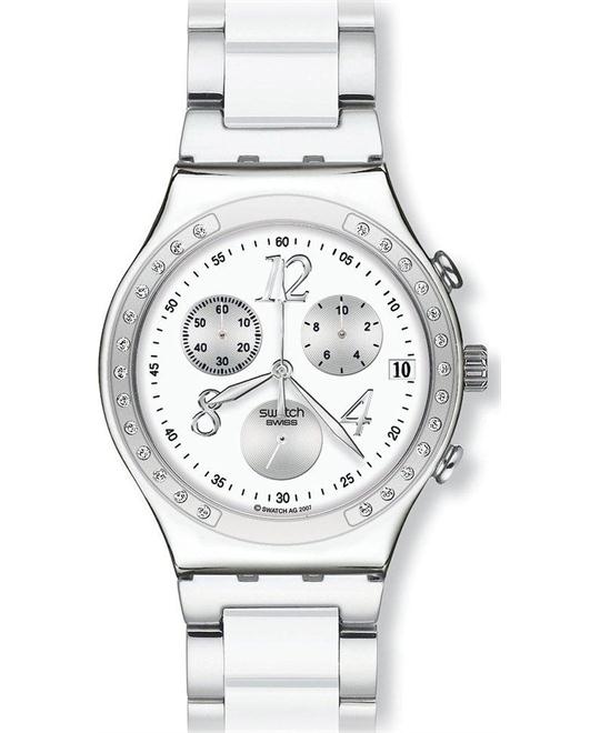 Swatch Dreamwhite Chrono Glitz Unisex Watch 39mm
