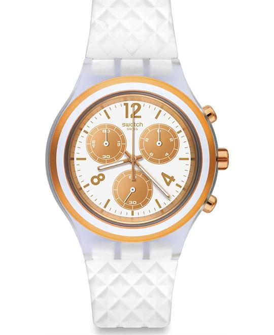 SWATCH Elerose Chronograph White Dial Watch 43mm