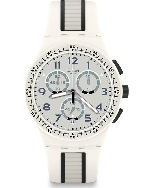 SWATCH Escalator White Chronograph Watch 42mm