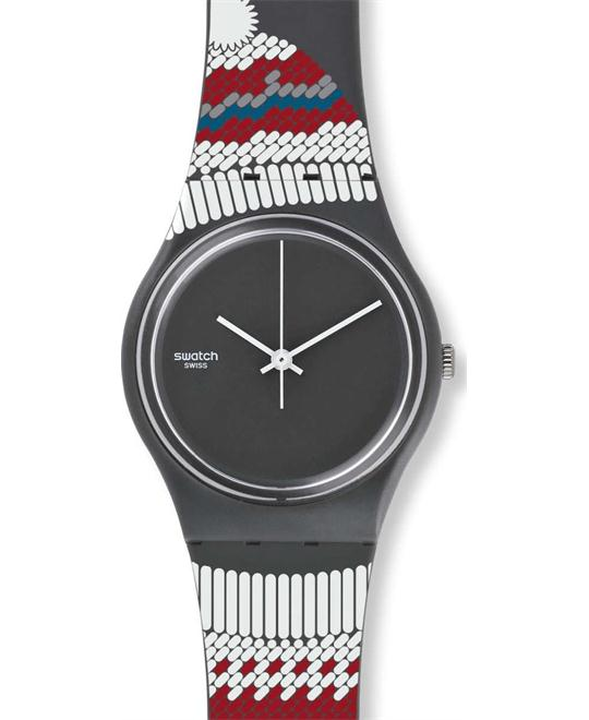 Swatch Gornegrat Silicone Mens Watch 33mm