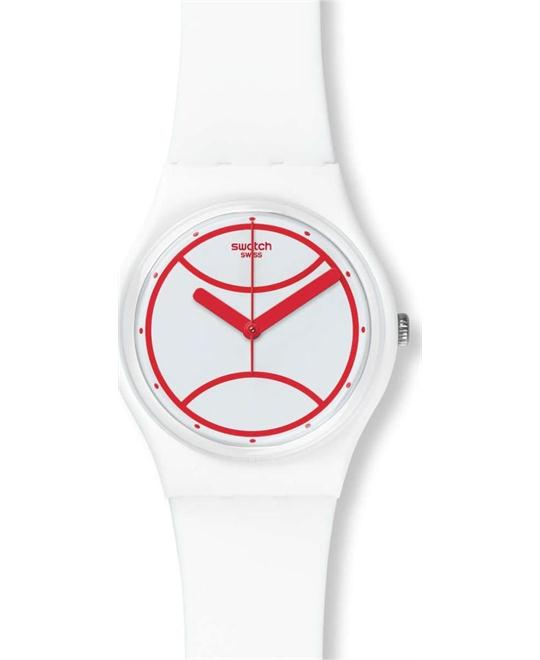 SWATCH Hit The Line White Watch 34mm