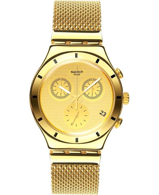 Swatch Irony Chronograph Gold Unisex Watch 39mm