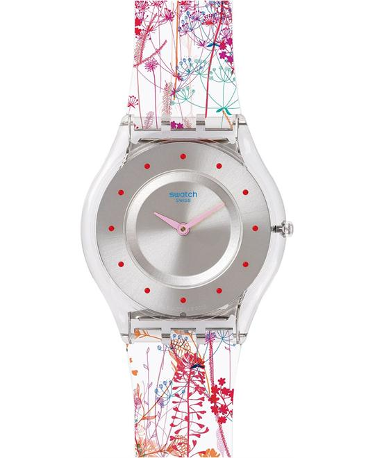 SWATCH Jardin Fleuri Silicone Ladies Watch 34mm