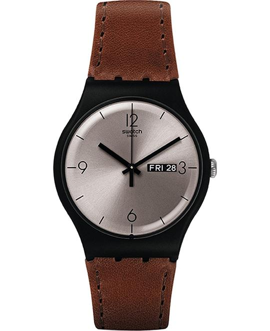 Swatch Lonely Desert Quartz Casual Watch 41mm