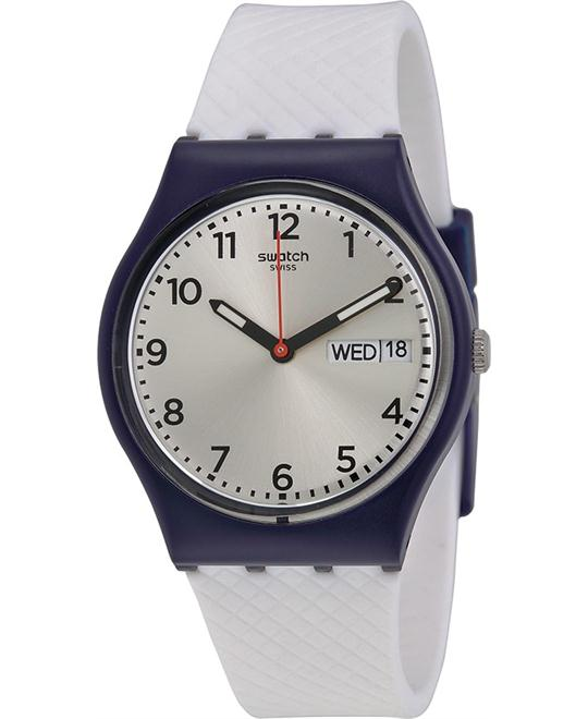 Swatch Men's Analog Display Quartz White Watch 34mm