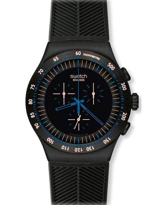 Swatch Men's Black Dial Chronograph Watch 47MM