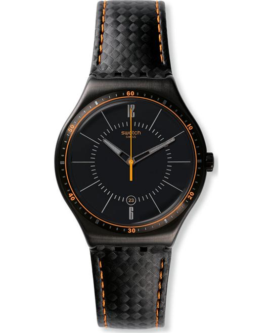 Swatch Men's Irony Swiss Quartz Black Watch 41 mm