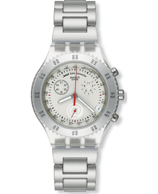 SWatch Men's Silvertone Wayfarer Chronograph Watch