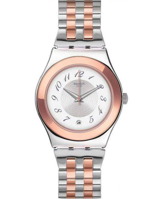 SWATCH Midimix Silver Dial Ladies Watch 33mm