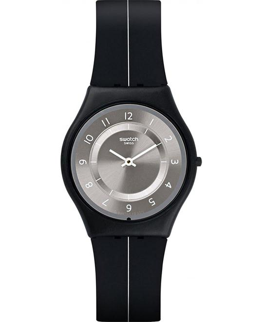 Swatch My Silver Black Ladies Casual Watch 34mm