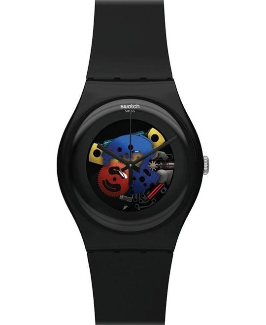 SWATCH Originals Lacquered Silicone Unisex Watch 41mm