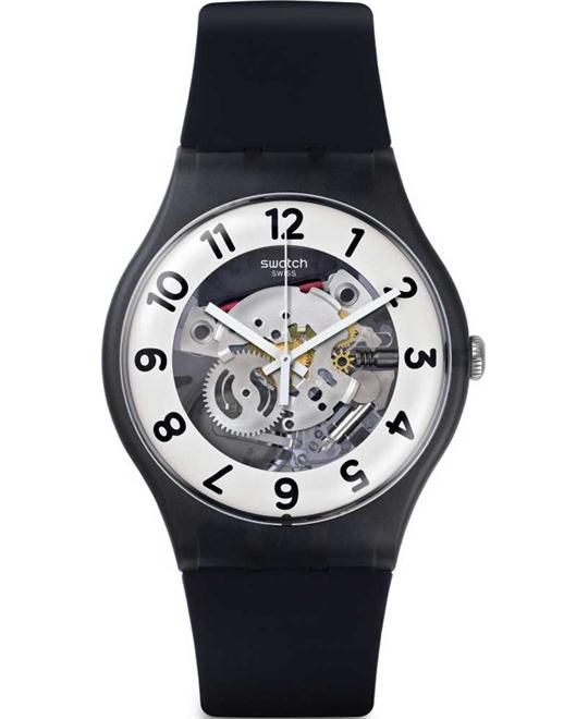Swatch Originals Skeletor Black Silicone Strap Watch 41mm