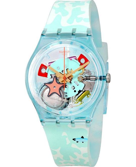 SWATCH Piscina Transparent Dial Ladies Watch 34mm