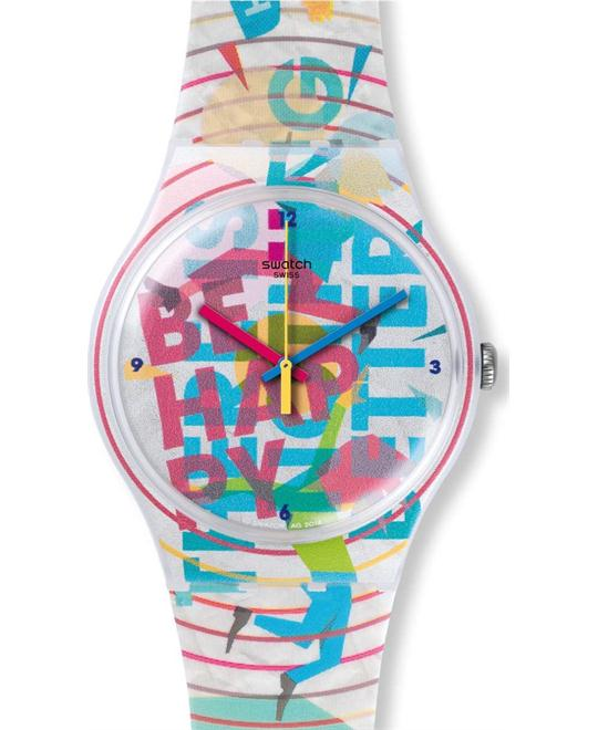Swatch Quartz Multi Color Casual Watch 41mm