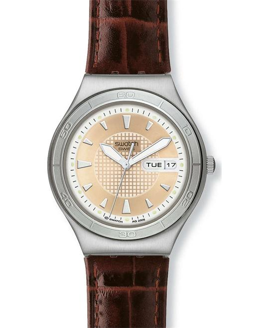 Swatch Quaterman Irony Brown Mens Watch 38mm