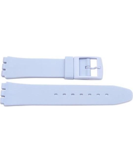 Swatch Replacement Synthetic Plastic Light Blue  Watch Band 17mm