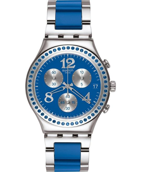 Swatch Secert Thought Blue Chronograph Blue Mens Watch 39mm
