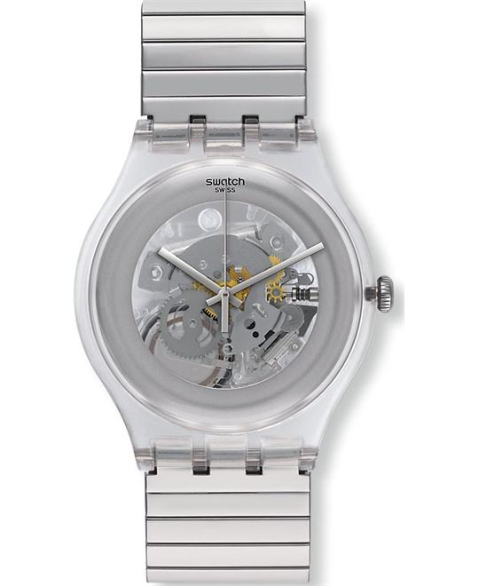 Swatch Silverall Stainless Steel Unisex Watch 40mm