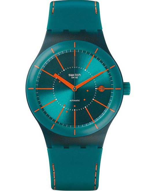 SWATCH Sistem Automatic Silicone Unisex Watch 42mm