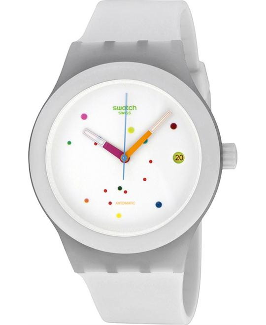 SWATCH Sistem Automatic White Dial Men's Watch 41mm