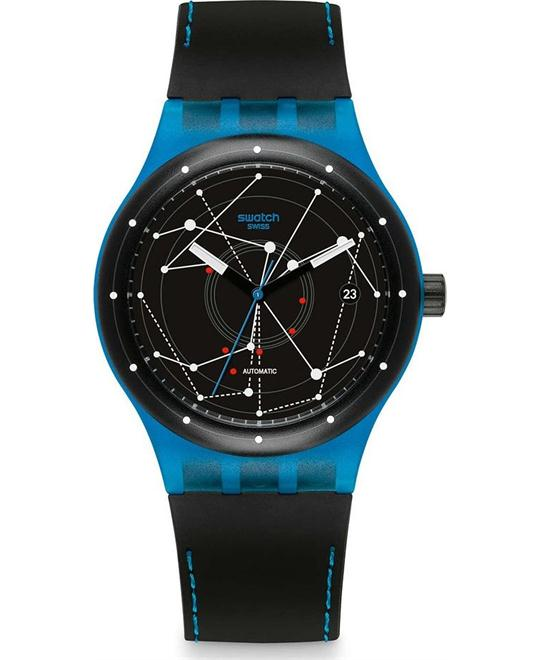 SWATCH, SISTEM BLUE AUTOMATIC WATCH, 42MM
