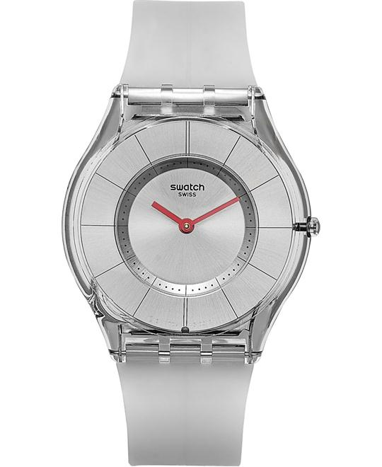 SWATCH Skin Ghost Silver Ladies Watch 34mm