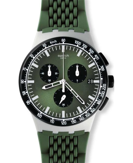 SWATCH Sperulino Chronograph Green Watch 42mm